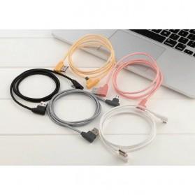 Kabel Micro USB L Shape 25cm - Black - 4