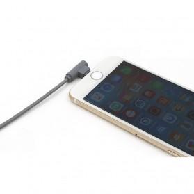 Kabel Micro USB L Shape 25cm - Black - 6