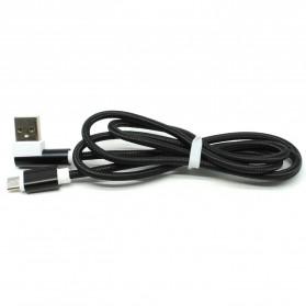 Kabel Charger L Shape Micro USB - 1m - Black