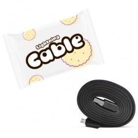Cookie Kabel Charger Lightning 1 Meter - Black - 2