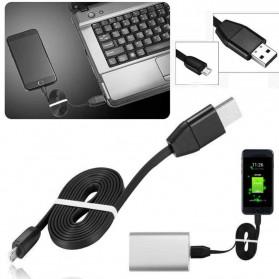 Kabel Charger Micro USB dengan GPS Tracker - S8 - Black