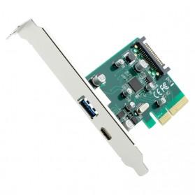 Kartu PCI-E 4x ke USB 3.0 & USB Type C dengan 15 Pin SATA Power - 3