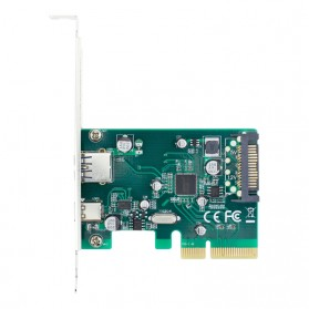 Kartu PCI-E 4x ke USB 3.0 & USB Type C dengan 15 Pin SATA Power - 5