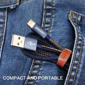 Bastec Kabel Charger USB Type C Leather 1.2 Meter - WYZ16 - Black - 3