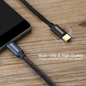 Bastec Kabel Charger USB Type C Leather 1.2 Meter - WYZ16 - Black - 4