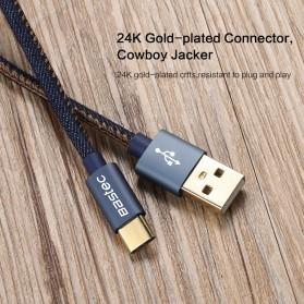 Bastec Kabel Charger USB Type C Leather 1.2 Meter - WYZ16 - Black - 5
