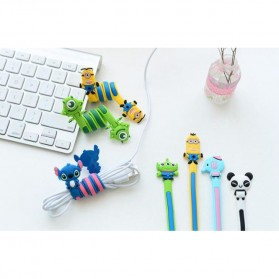 Cable Clip Silicone Model kartun - Blue