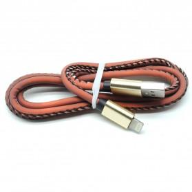 Kabel Charger Lightning Temperature Change 1 Meter - Black