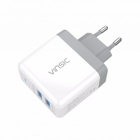 Vinsic USB Travel Charger 2 Port 5V/4.8A EU Plug - White - 4