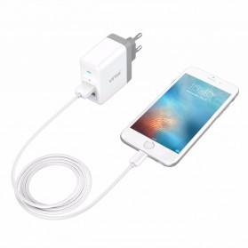 Vinsic USB Travel Charger 2 Port 5V/4.8A EU Plug - White - 5