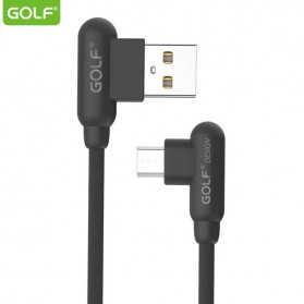 Golf Kabel Charger L Shape Micro USB - GC-45 - Black