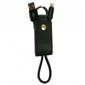 Kabel Charger Keychain USB Lightning - Black
