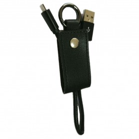 Kabel Charger Keychain Micro USB - Black