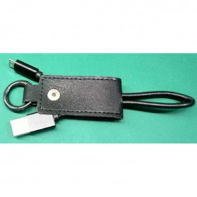Kabel Charger Keychain Micro USB - Black - 3