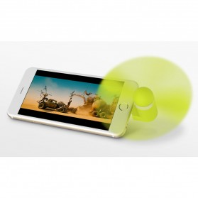 WSKEN Kipas Mini Portable Micro USB & Lightning - Green - 2
