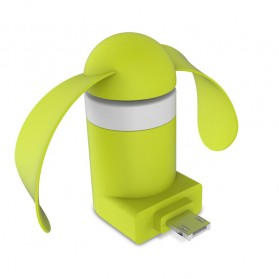 WSKEN Kipas Mini Portable Micro USB & Lightning - Green - 5