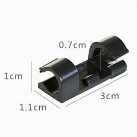 CARPRIE Klip Kabel Organizer Cable Clip 20 PCS - FT-8018 - Black - 8