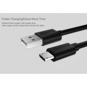 CHOETECH Kabel Charger Micro USB Fast Charging 2.4A - 1m - Black - 3
