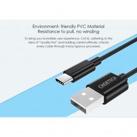 CHOETECH Kabel Charger USB Type C Hi Speed 2.4A 1m - E-5-12 - Black - 2