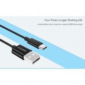 CHOETECH Kabel Charger USB Type C Hi Speed 2.4A 1m - E-5-12 - Black - 3