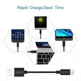 CHOETECH Kabel Charger USB Type C Hi Speed 2.4A 1m - E-5-12 - Black - 7