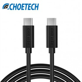 CHOETECH Kabel Charger USB Type C to Type C Hi Speed 3A - 1m - E-4-11 - Black - 1
