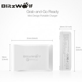 BlitzWolf Charger USB 5 Port Quick Charger 3.0 4.4A - BW-S7 - White - 6