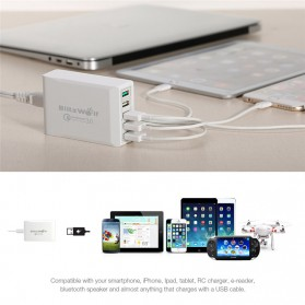BlitzWolf Charger USB 5 Port Quick Charger 3.0 4.4A - BW-S7 - White - 7