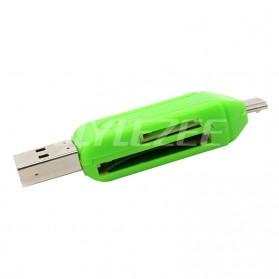 Robotsky USB OTG 2 in 1 Card Reader Universal - P20 - Black - 4