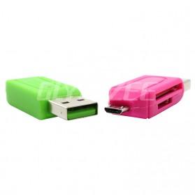 Robotsky USB OTG 2 in 1 Card Reader Universal - P20 - Black - 6