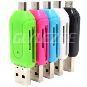 Robotsky USB OTG 2 in 1 Card Reader Universal - P20 - Black - 8