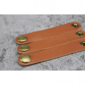 Gulungan Kabel Kulit Cable Clips - Brown - 3