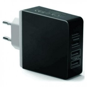 Station Charger USB 4 Port - Black