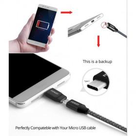 Fonken USB Type C to Micro USB OTG Smartphone - FK-CN-AZ-TPC - Black - 3