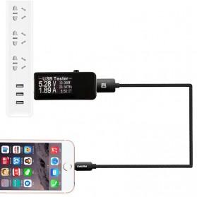 Digital USB Tester Voltase & Ampere - VA007 - Black - 8