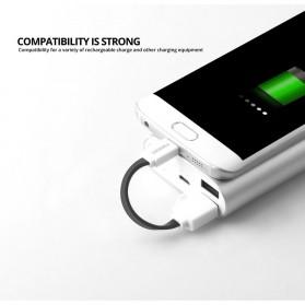 FONKEN Kabel Charger Micro USB 10cm Khusus Power Bank - FK-MTX-AZ - Black - 2