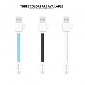 FONKEN Kabel Charger Micro USB 10cm Khusus Power Bank - FK-MTX-AZ - Black - 4