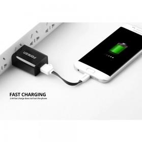 FONKEN Kabel Charger Micro USB 10cm Khusus Power Bank - FK-MTX-AZ - Black - 6