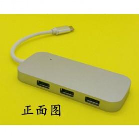 EKSA USB Hub 3 Port USB Type C with Card Reader Model Oval - R012 - Silver - 7
