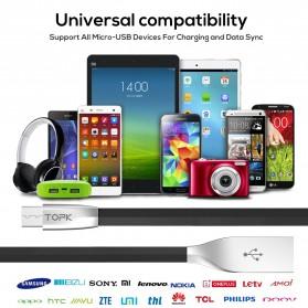 TOPK Kabel Charger Micro USB Ziny Alloy - CS01181 - Black - 6