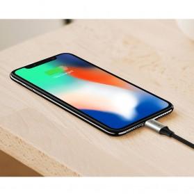 FLOVEME L Shape 2 in 1 Kabel Charger Lightning + Micro USB 2.4A 1 Meter - Black - 5