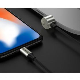 FLOVEME L Shape 2 in 1 Kabel Charger Lightning + Micro USB 2.4A 1 Meter - Black - 6
