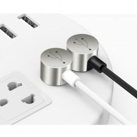 FLOVEME L Shape 2 in 1 Kabel Charger Lightning + Micro USB 2.4A 1 Meter - Black - 7