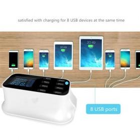 Smart Wall Charger 8 USB Port with LED Display - YC-CDA19 - White - 5