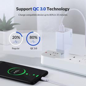 TOPK Charger USB 3 Port 3.0A Fast Charging QC3 EU Plug - A3301 - White - 2
