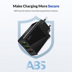 TOPK Charger USB 3 Port 3.0A Fast Charging QC3 EU Plug - A3301 - White - 4
