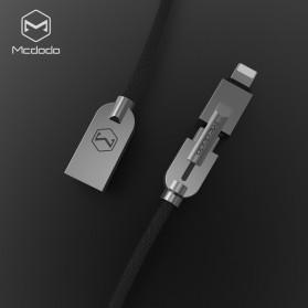 MCDODO 2 in 1 Kabel Charger Micro USB+Lightning 1.2 Meter - Black