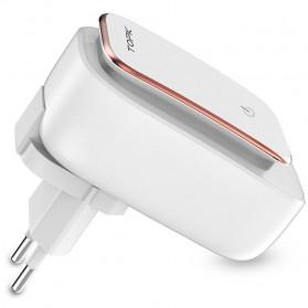 TOPK Charger USB 3 Port 3.4A dengan Lampu LED - White - 2