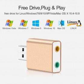 External USB Sound Card 3D Audio 7.1 - Black - 4