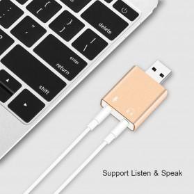 External USB Sound Card 3D Audio 7.1 - Black - 5